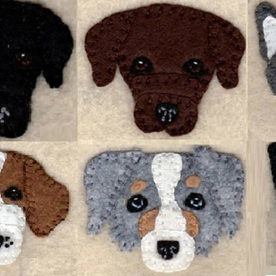 Penny Rug (Create-A-Dog) Ornament Class October 27 W/Meredith Westner