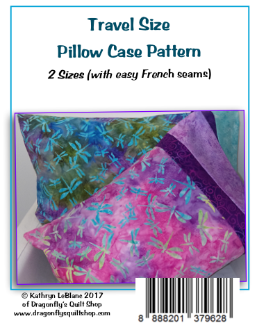 Travel Pillow Case Pattern BOGO
