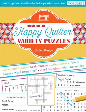 Happy Quilter Variety Puzzle Volume 3 - NEW!!
