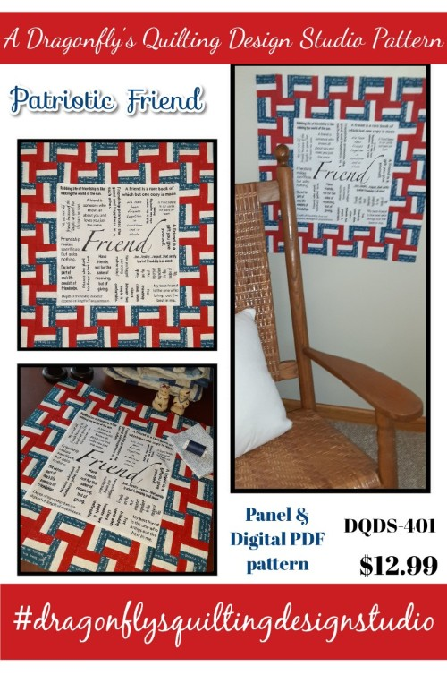Patriotic Friend -  Panel & digital PDF pattern