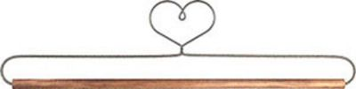 12in Heart Ackfeld  Wire Fabric Hanger