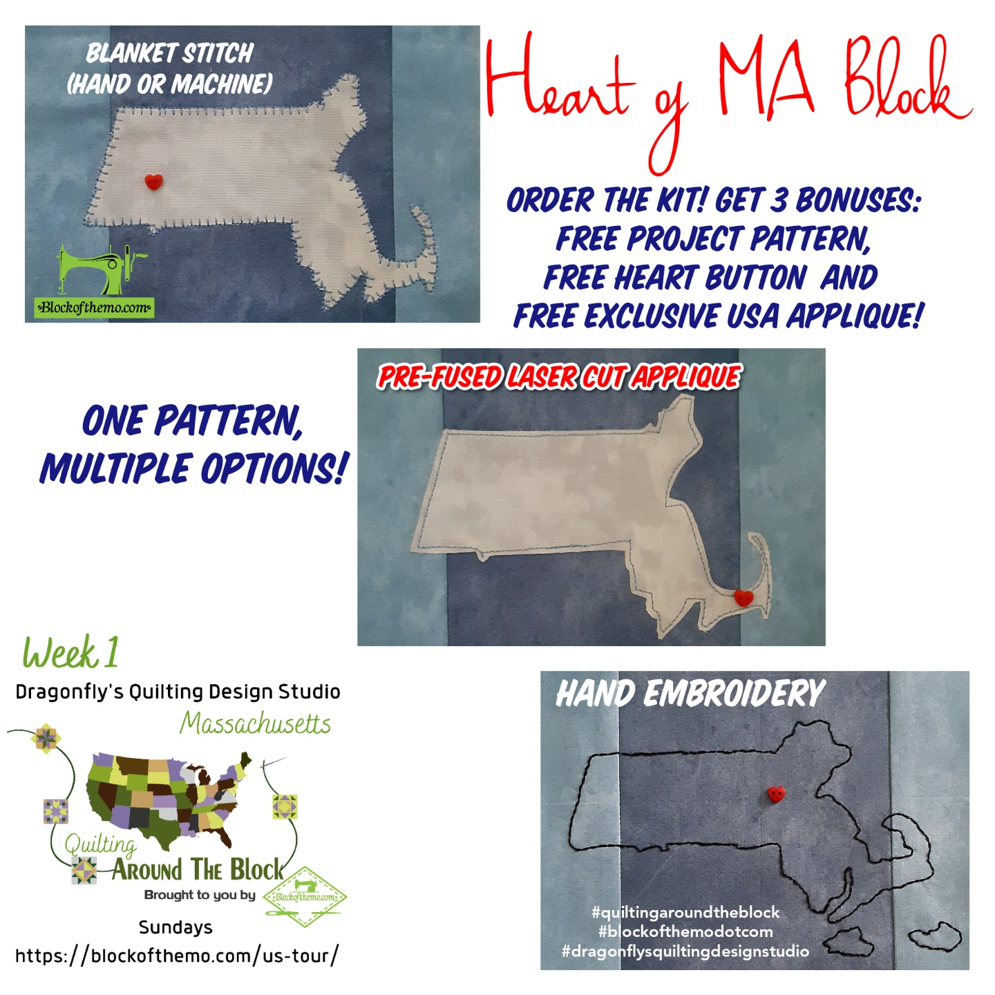 State of MA (Complimentary digital pattern)