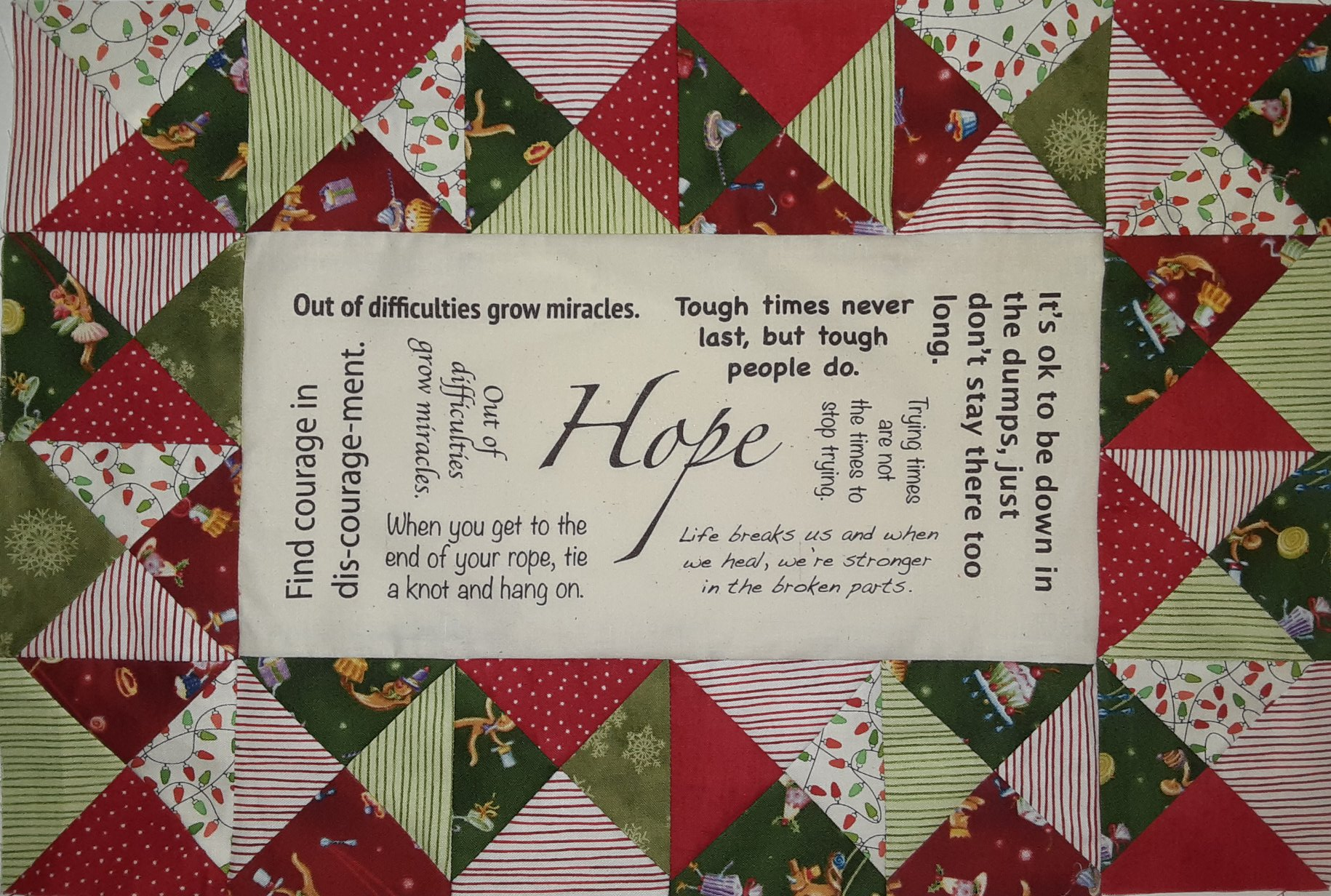 Christmas Hope Pillow - Panel & Printed Pattern Bundle