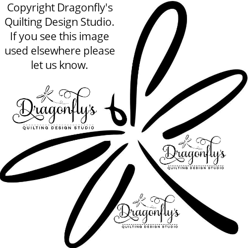 Exclusive dragonfly applique (approx. 9