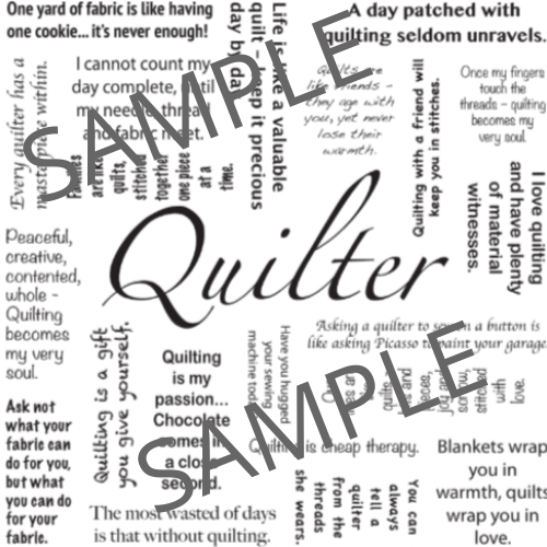 Quilter - Panel only