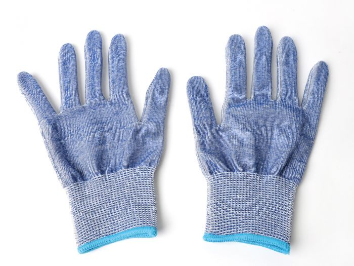 Cut-Resistant Stainless Steel-Wire Gloves (Pair, Sz - Medium) Level-D