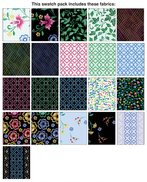 5 inch precut pack - Embroidered Elegance