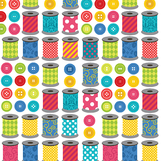 Sew Excited Spools Print