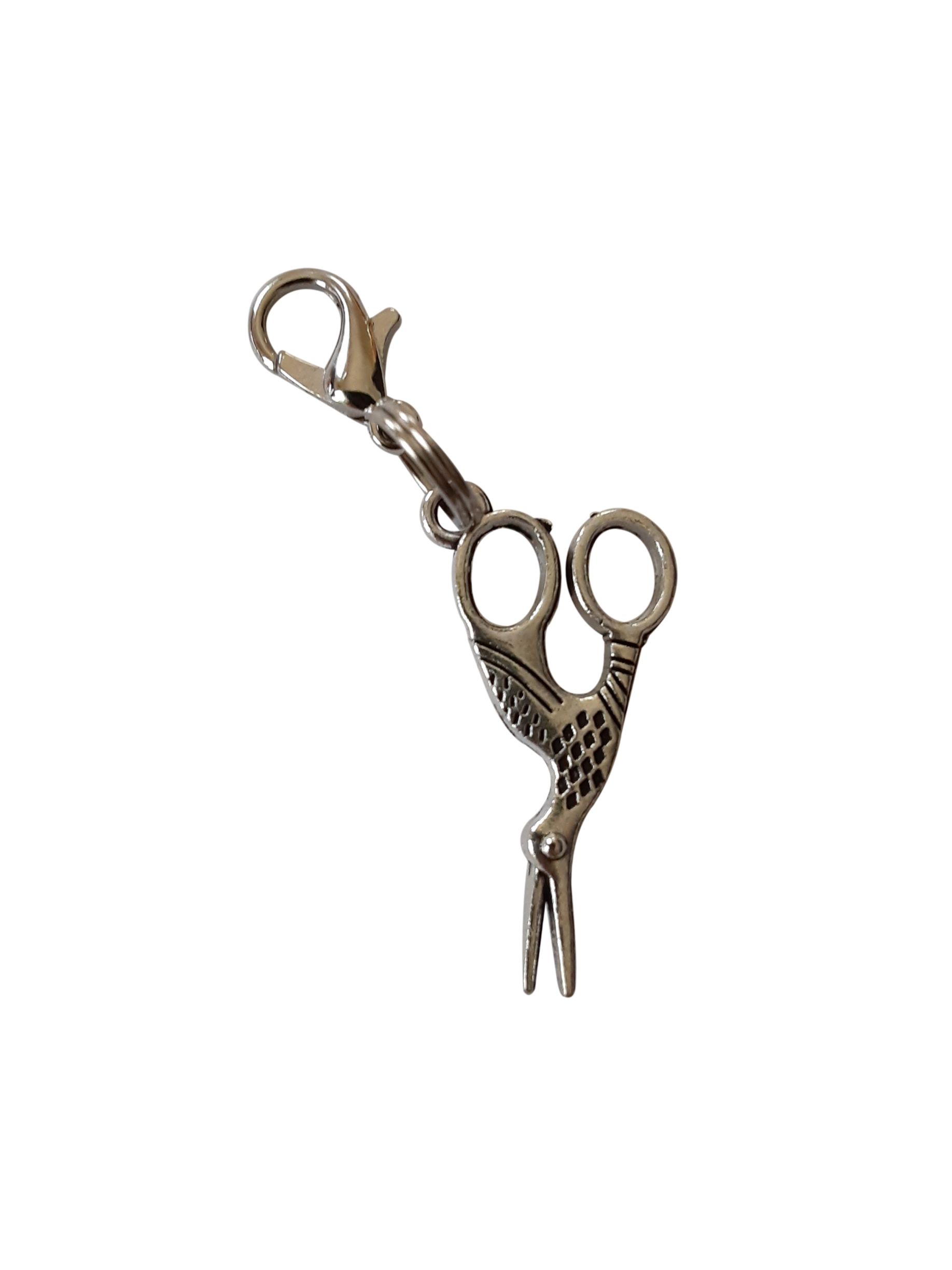 Scissors charm zipper pull