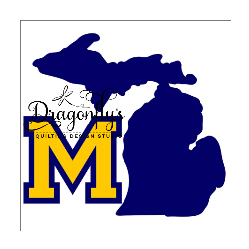 State of Michigan Appliqués - FREE SHIPPING!!