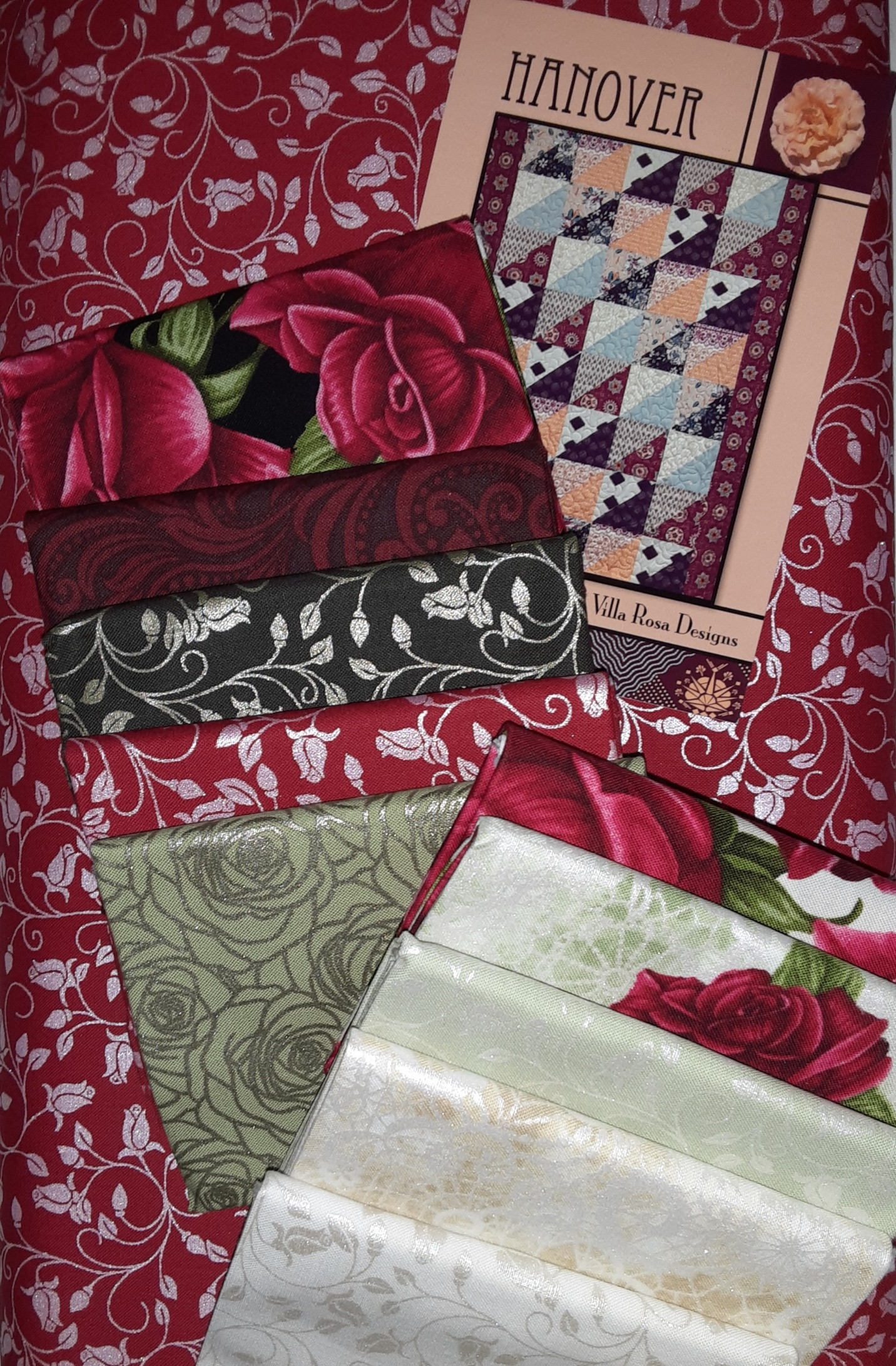 Hanover Quilt Kit with Festival of Roses
