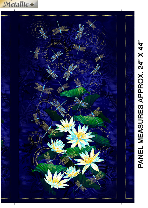 Dragonfly Panel MOONLIGHT SERENADE PANEL INDIGO