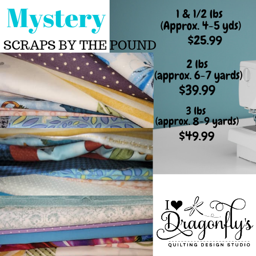 Fabric scraps by the pound (1 1/2, 2 or 3)