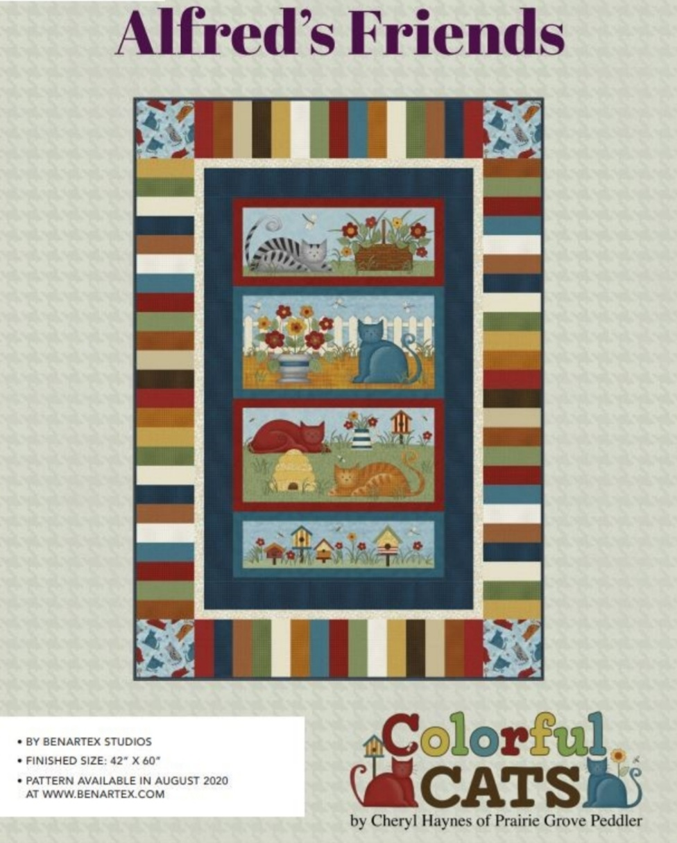Colorful Cats Quilt Top Kit