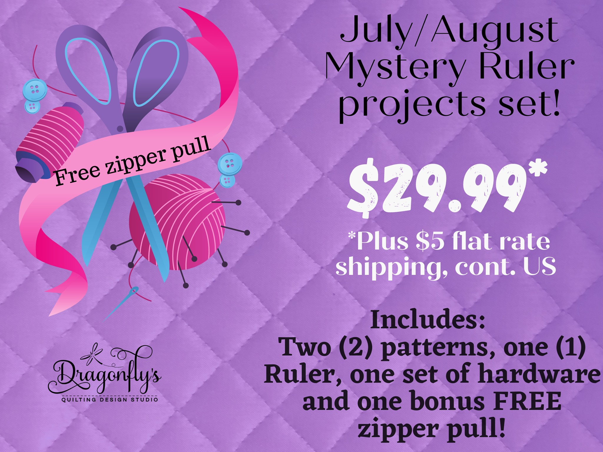 Mystery Ruler July/August Project Set